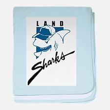 Land Sharks baby blanket