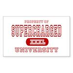 Supercharged University Property Sticker (Rectangu