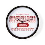 Supercharged University Property Wall Clock