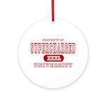 Supercharged University Property Ornament (Round)