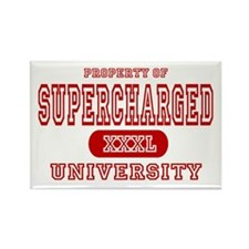 Supercharged University Property Rectangle Magnet