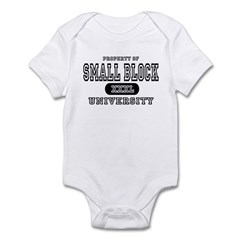 Small Block University Property Infant Bodysuit