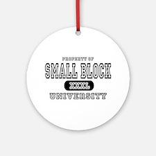 Small Block University Property Ornament (Round)