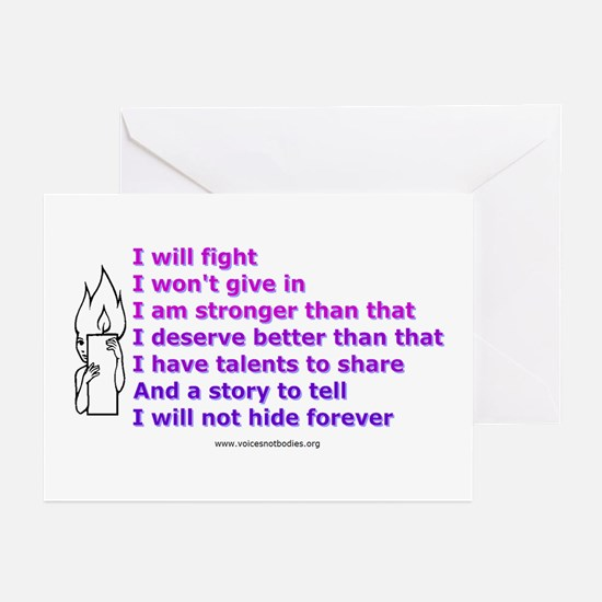 Voices - Not Bodies Greeting Cards (Pk of 10)