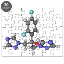 Fluconazole anti-fungal drug molecule - Puzzle