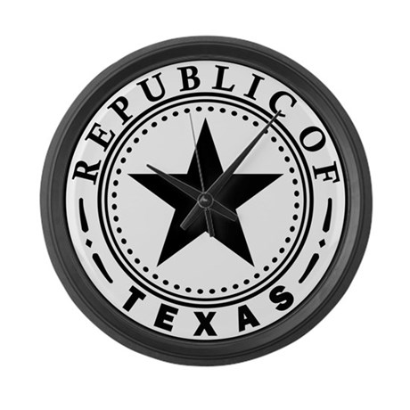 Great Seal of Texas 1836-1839 Large Wall Clock