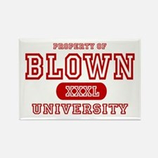 Blown University Property Rectangle Magnet