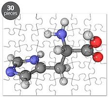 Histidine amino acid molecule - Puzzle
