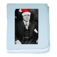 Al Capone Christmas baby blanket
