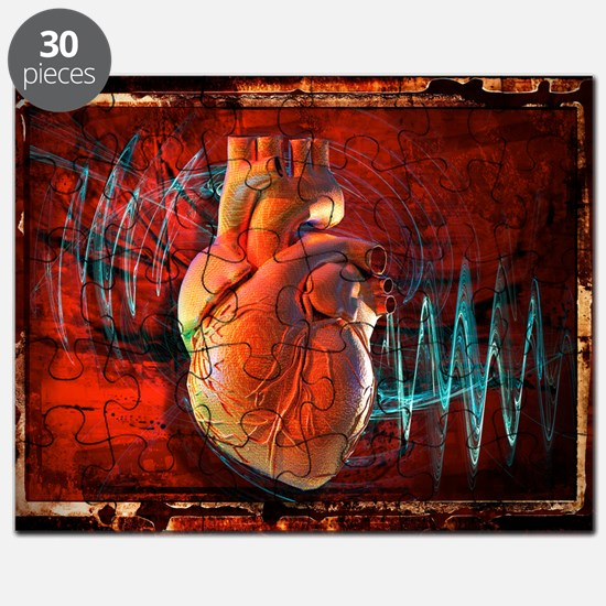 Human heart, artwork - Puzzle