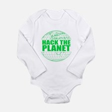 Hack The Planet Long Sleeve Infant Bodysuit