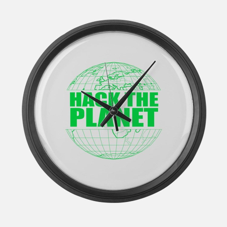 Hack The Planet Large Wall Clock