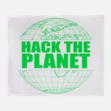 Hack The Planet Throw Blanket