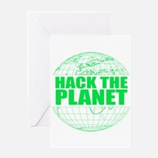 Hack The Planet Greeting Card