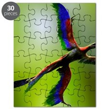 Microraptor dinosaur flying, artwork - Puzzle