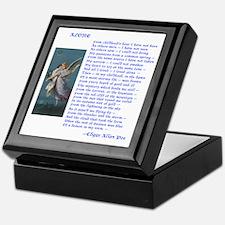 Poe Poem Alone Keepsake Box
