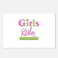 Girls Rule and the boys drool! Postcards (Package