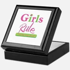 Girls Rule and the boys drool! Keepsake Box