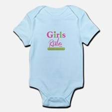 Girls Rule and the boys drool! Infant Bodysuit