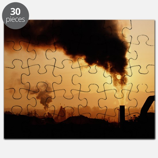 Smoke plume from asphalt plant - Puzzle