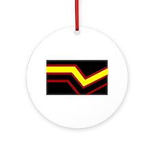 Rubber Pride Flag Ornament (Round)