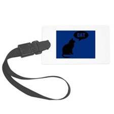 What A Cat Says Luggage Tag