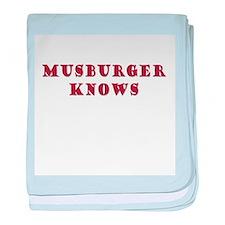 Musburger Knows baby blanket