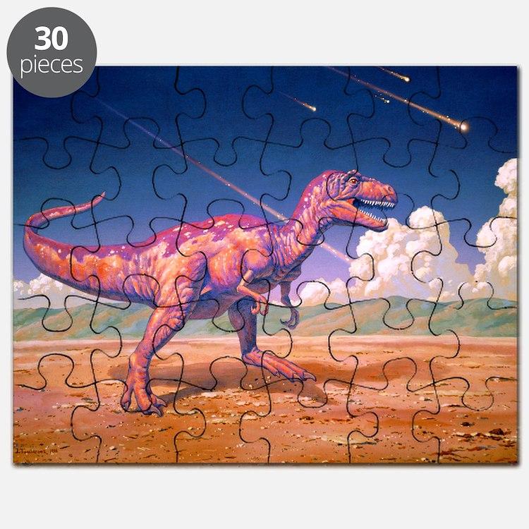Tyrannosaurus rex with meteorites - Puzzle