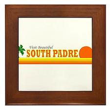 Funny South beach Framed Tile