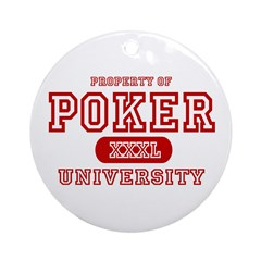 Poker University Property Ornament (Round)