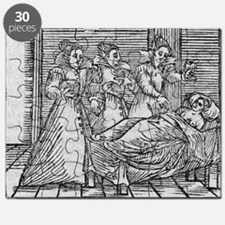 Witches giving potion to woman, 17th cent - Puzzle