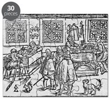 Woodcut of scribes at work - Puzzle