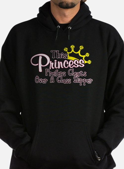 Softball Princess Prefers Cleats Hoodie (dark)