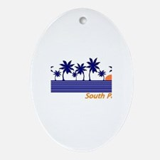 Funny South padre island Oval Ornament