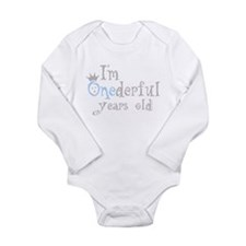 Onederful years old (boy) Body Suit