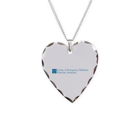SEMPA Logo Necklace Heart Charm