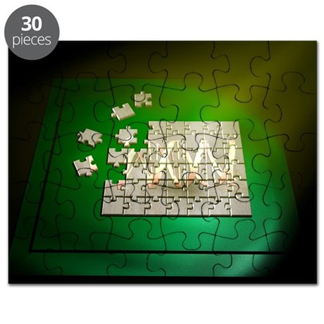 dna jigsaw puzzle by sciencephotos. Black Bedroom Furniture Sets. Home Design Ideas