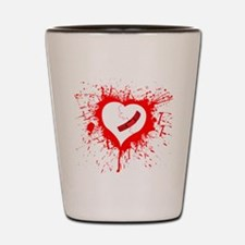 Broken Hearted Shot Glass