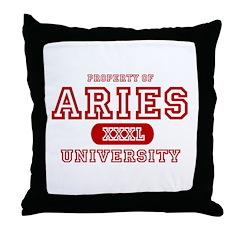 Aries University Property Throw Pillow