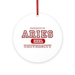 Aries University Property Ornament (Round)