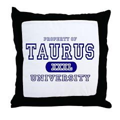 Taurus University Property Throw Pillow