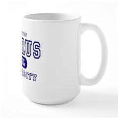 Taurus University Property Large Mug