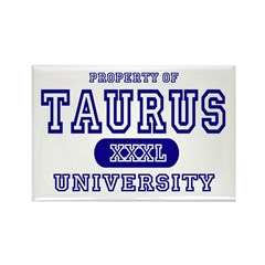 Taurus University Property Rectangle Magnet