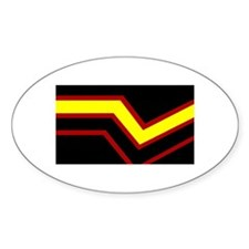 Rubber Pride Oval Decal