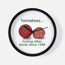 Tomatoes Suck Wall Clock