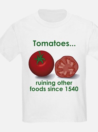 Tomatoes Suck Kids T-Shirt