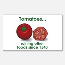 Tomatoes Suck Rectangle Decal