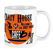 The CRAZY HOUSE CAFE Coffee mug in ORANGE YOU GONE