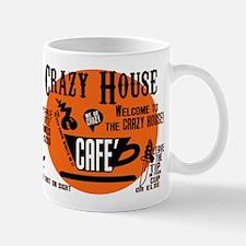 The CRAZY HOUSE CAFE Coffee mug in ORANGE YOU GONE