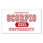 Scorpio University Property Rectangle Sticker